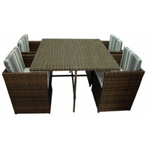 Mesa E Cadeiras Em Fibra Sintética Madri