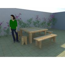 Mesa Para Jardim Ou Cozinha Medindo 160x160 Cm Marcenaria