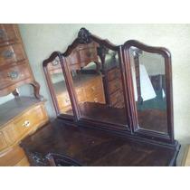 Penteadeira Chipandelle Maciça Com 3 Espelhos E 5 Gavetas