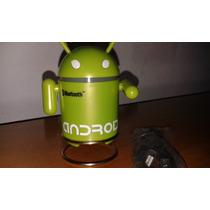 Mini Robô Android Mp3, Rádio E Caixa De Som , Entrada Usb