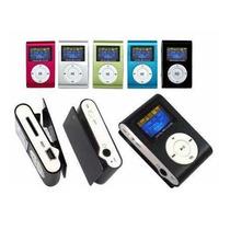 Mini Mp3 Playerlcd C/ Rádio Fm Metal + Cartão 8gb Sandisk
