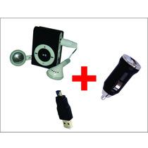 Mp3 Player Clip Metal Slim + Fone + Cabo + Carregador