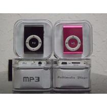 Mini Mp3 Player Shuffle Clip + Cabo Usb + Fone