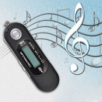 Mp3 Player 2gb Usb Radio Fm + Gravador De Voz = Pendrive