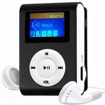 Mini Mp3 Player Shuflle Fm Clip Entrada Micro Sd Suporta