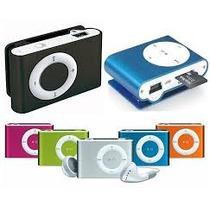 Mini Mp3 Player Shuflle Clip + Cartão De Memória Microsd 8gb