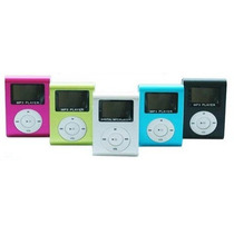 Mp3 Player Mini Shuflle Radio Fm Visor Lcd Entrada Micro Sd
