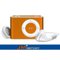 Mini Mp3 Player Shuffle Clip Slim 4gb Microsd Frete Gratis