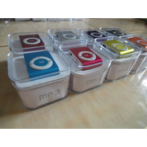 Mp3 Player Clip Metal+fone+usb Entrada Micro Sd Suporta 8gb