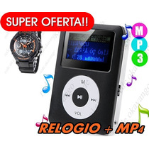Combo Mp4 Player 1.8 Lcd Screen 8gb + Relogio S-shock Sport