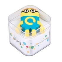 Mini Mp3 Player+fm Minions Clip+entrada Micro Sd Suporta 8gb