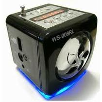 Mini Caixa De Som Com Rádio Entrdada Para Cartão De Memoria