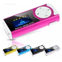 Mp3 Player Mini Shuflle Visor Lcd Micro Sd E Lanterna Cores