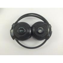 Fone De Ouvido Sem Fio Mp3/fm Flexível Micro Sd