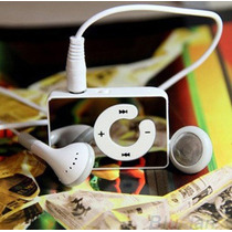 Mini Mp3 Player Digital Luxo + Cabo Usb + 8gb + Fone Ouvidos
