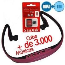 Fone De Ouvido Sem Fio Sport Mp3 + Radio Fm + Cartão 8gb !!!