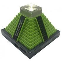 Linda Mini Caixa De Som Pirâmide Mp3 Usb Sd Radio Fm Com Luz
