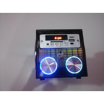 Caixa De Som Portátil Com Rádio Fm Yy-020 Amplificada Sd E U