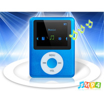 Mp4 Player Tela 1.8 Com Rádio Fm E Microfone (azul)