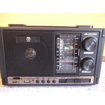 Caixa Som Super Potente Sd/ Usb Mp3,mp4 Radio Am E Fm 8 Band