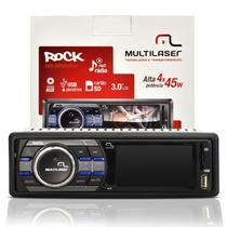 Auto Rádio Multimídia Mp5 Multilaser Rock P3180 - 3 Lcd