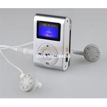 Mp3/mp4 Player Rádio Fm Digital Tela Lcd Para16 Gb Tf