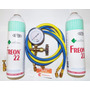 Kit Recarga Gás R22 Split 2 Kg Dupont + Manifold De Baixa