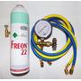 Kit Recarga Gás R22 Split 1 Kg Dupont + Manifold De Baixa