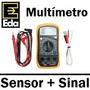 Eda Multímetro Digital C/ Sensor Temperatura + Sinal Sonoro