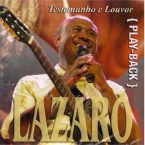 Cd Play-back Lazaro - Testemunho E Louvor * Lacrado Original