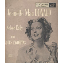 Jeanette Macdonald-nelson Eddy Lp 10 Polegadas Canções Favor