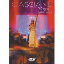 Dvd Cassiane - 25 Anos De Muito Louvor * Lacrado * Original