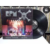Lp Rpm Rádio Pirata Ao Vivo C/ Encarte - Veja O Video - Cj