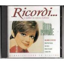 Cd Rita Pavone O Melhor Da Música Italiana Ricordi Seminovo