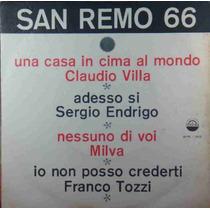 Sergio Endrigo Claudio Villa Milv Compacto Vinil San Remo 66
