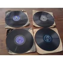 78 Rpm Discos Lp Vários Artistas/ Lote Com 4 Discos