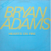 Bryan Adams Maxi Single Vinil Hearts On Fire 1987