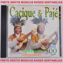 Cd Sertanejo Cacique E Pajé Índio Música Brasil 500 Anos