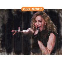 Quadros Rústico Rock Madonna Seixas Renato Russo Elvis