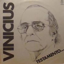 Vinicius De Moraes Lp Testamento 1980 Bethania Toquinho