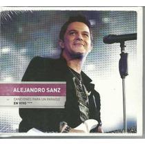 Cd + Dvd Alejandro Sanz - Canciones Para Un Paraíso -en Vivo