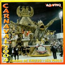 Cd / Sambas Enredo Carnaval 2004 São Paulo