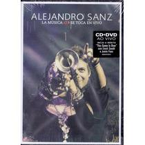 Dvd + Cd Alejandro Sanz - La Música Se Toca Em Vivo - Novo**