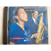 Cd Sarah Vaughan Lester Young One Night Stand