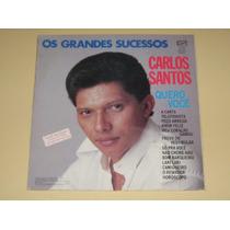 Carlos Santos Os Grandes Sucessos 1987 Lp Vinil