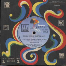 Diana Ross & Marvin Gaye Compacto Vinil Stop, Look , Listen