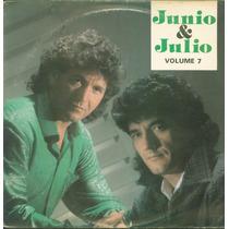 Lp Junio E Julio - Volume 7 - 1989 - Som De Cristal