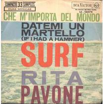 Rita Pavone Compacto De Vinil-datemi Un Martello-mono-1963