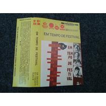 Fita K7 Em Tempo De Festival Chico Buarque Nana Tom Zé 1985