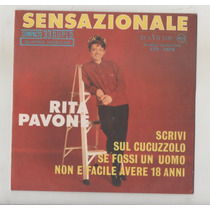 Compacto Vinil Rita Pavone - Sensazionale - Rca Victor -